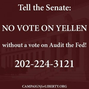 No Vote on Yellen Without a Vote on Audit the Fed